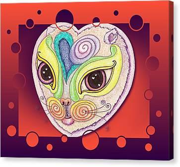 Chakra Cat Canvas Print by Melinda DeMent