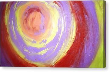 Whirlpool Of Hues Canvas Print by Jagjeet Kaur