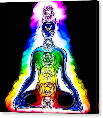 Chakras At Work Canvas Print by Mary Burr