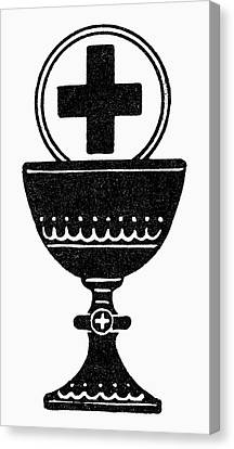 Last Supper Canvas Print - Chalice And Cross by Granger