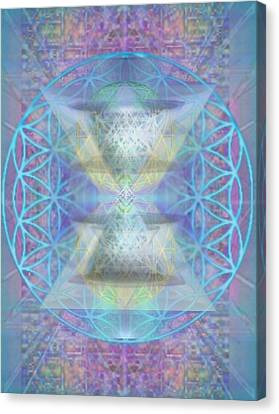 Chalicespheres And Flower Of Life Latticework Canvas Print by Christopher Pringer