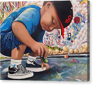 Chalk Art Creations Canvas Print by Randy Segura