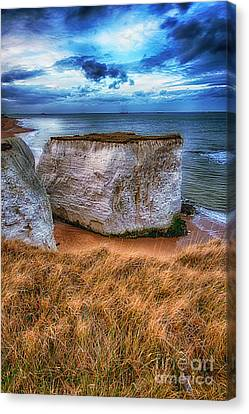 Chalk Cliffs Near Broadstairs Kent Uk Canvas Print