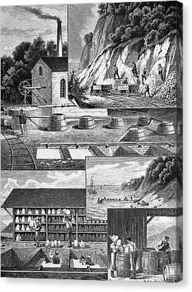 Chalk Production Canvas Print by Bildagentur-online/tschanz