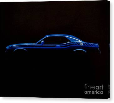 Challenger Silhouette Canvas Print by Paul Kuras