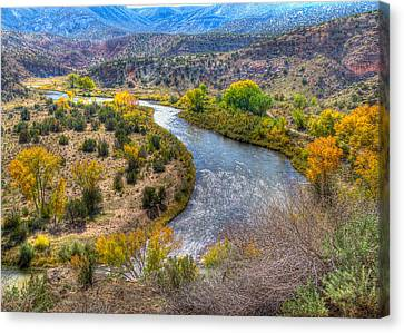 Chama River Overlook Canvas Print by Alan Toepfer