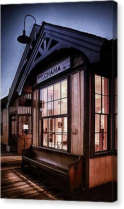 Chama Train Station Canvas Print by Priscilla Burgers
