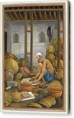 Sociology Canvas Print - Chamar Bottle Maker by British Library