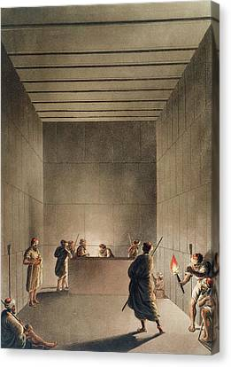 Chamber And Sarcophagus In The Great Canvas Print