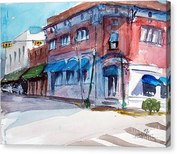Chamber Of Commerce Mineola Tx Canvas Print by Ron Stephens