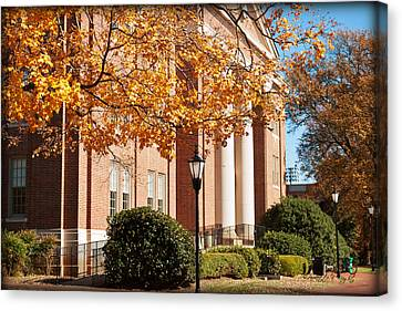 Chambers Building - Ruth Anne And Bobby Vagt Wing Canvas Print by Paulette B Wright