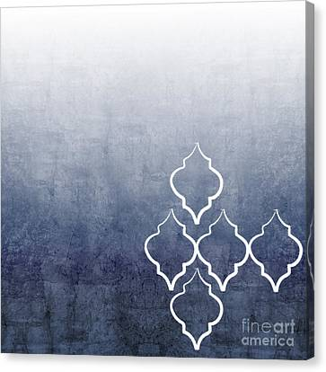 Chambray Ombre Canvas Print by Linda Woods
