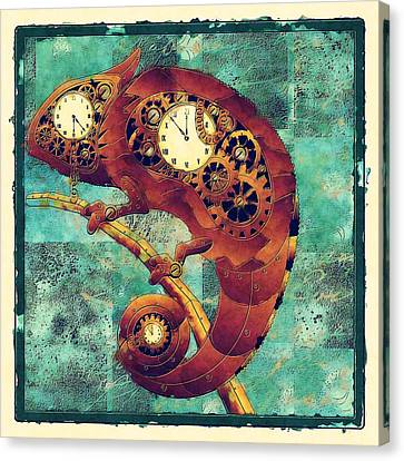 Chameleon - Aff01a Canvas Print by Variance Collections