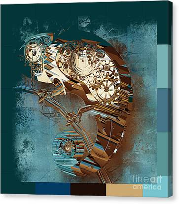 Chameleon  - J067070615 - Tq01 Canvas Print by Variance Collections