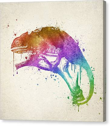Chameleon Splash Canvas Print by Aged Pixel