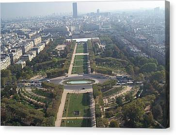 Canvas Print featuring the photograph Champ De Mars by Barbara McDevitt