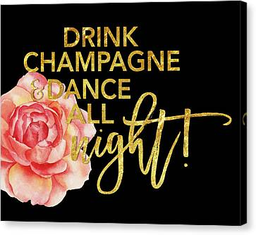Champagne Canvas Print by Amy Cummings