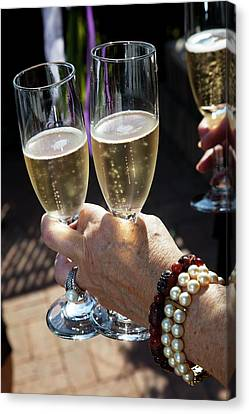 Champagne Celebration Canvas Print by Jim West