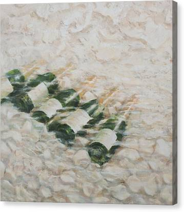 Champagne Cooling Canvas Print by Lincoln Seligman