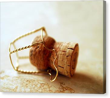 Champagne Cork Canvas Print by Jon Neidert