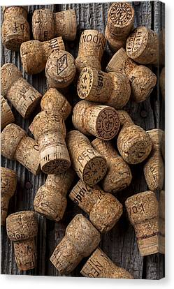 Champagne Corks Canvas Print by Garry Gay