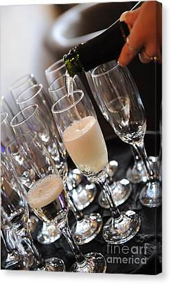 Champagne Flutes Canvas Print by Paul Clavel