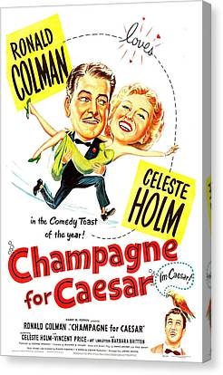 1950 Movies Canvas Print - Champagne For Caesar, Us Poster, Top by Everett