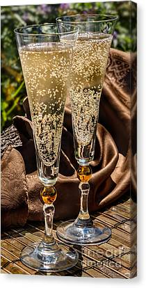 Champagne For Two Canvas Print by Iris Richardson
