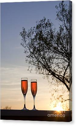 Champagne For Two Canvas Print
