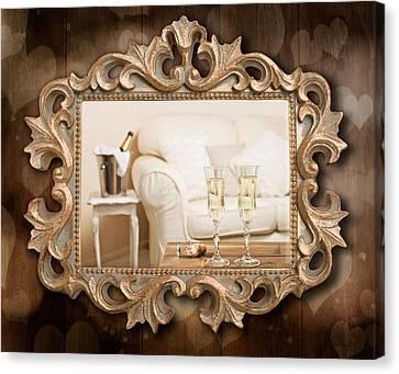 Champagne Frame Canvas Print by Amanda Elwell