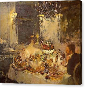 Champagne Canvas Print by Gaston La Touche