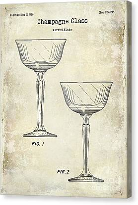 Champagne Glass Patent Drawing Canvas Print by Jon Neidert