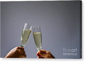 Champagne Toast Canvas Print by Patricia Hofmeester
