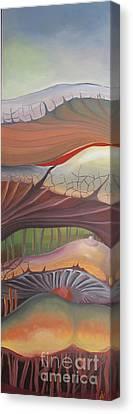 Champignons Landscape Canvas Print