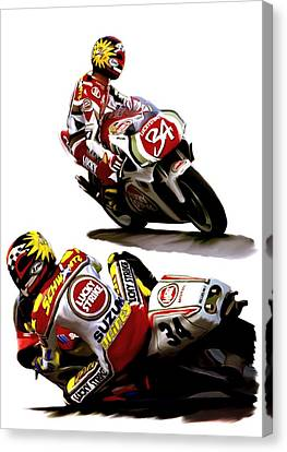 Champion 34  Kevin Schwantz Canvas Print by Iconic Images Art Gallery David Pucciarelli