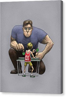 Canvas Print featuring the drawing Unlikely Champion by Ben Hartnett