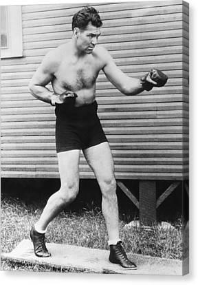 Boxer Canvas Print - Champion Boxer Jack Dempsey by Underwood Archives