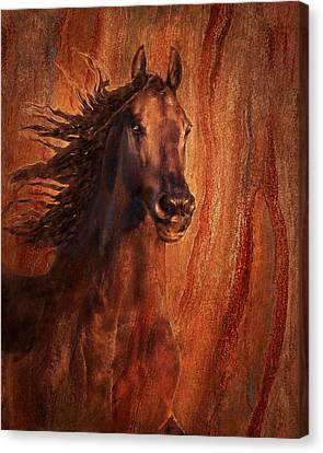 Champion Canvas Print by Melinda Hughes-Berland