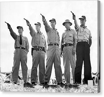 Champion Police Shooters Canvas Print by Underwood Archives