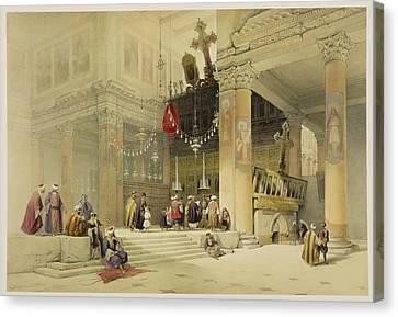 Chancel Of The Church Of St. Helena Canvas Print by David Roberts