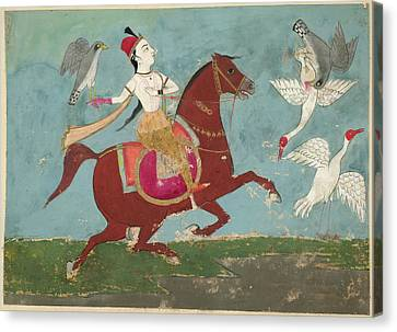 Chand Bibi Hawking Canvas Print by British Library