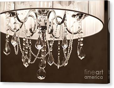 Canvas Print featuring the photograph Chandelier by Aiolos Greek Collections
