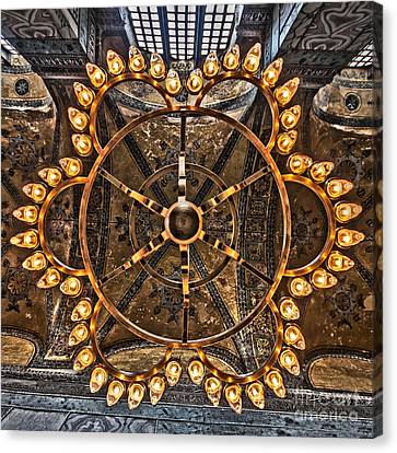 Chandelier At Hagia Sophia Canvas Print