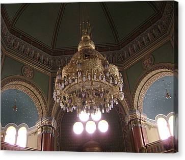 Chandelier Of Sofia Synagogue Canvas Print