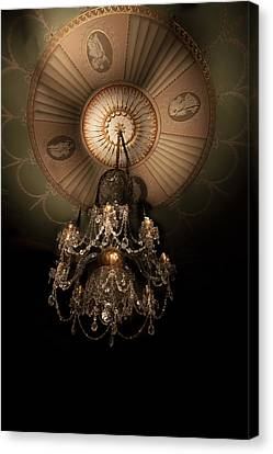 Chandelier Paxton House Canvas Print by Niall McWilliam