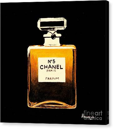 Chanel No. 5 Canvas Print by Alacoque Doyle