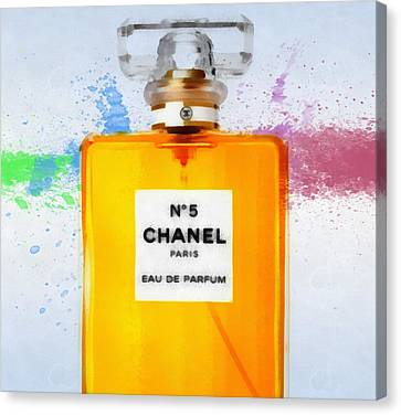 Chanel Number Five Paint Canvas Print