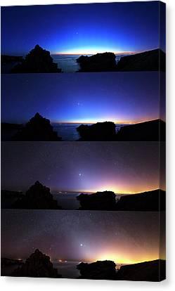 Changing Night Sky Canvas Print