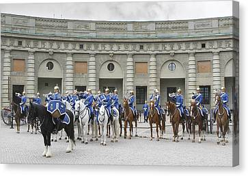 Canvas Print featuring the photograph Changing Of The Guard II by Roy  McPeak
