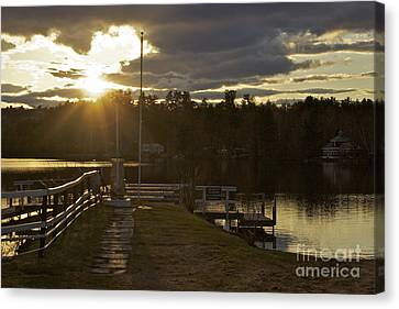Canvas Print featuring the photograph Changing Skies by Alice Mainville